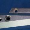 Dettaglio piastre laterali dopo la lavorazione CNC
